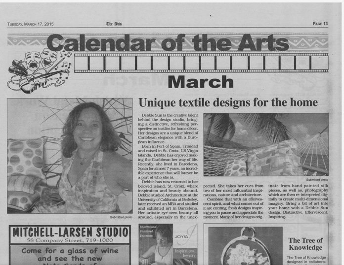 St. Croix Avis newspaper feature on Debbie Sun