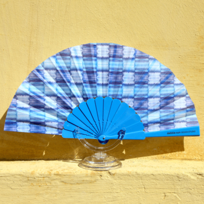 Blue Allure Hand Fan