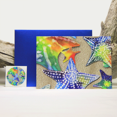 Starfish Note Cards (8)