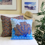 Under the Sea pillow by Debbie Sun